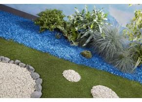 Paillage Organique Coloré Bleu Azur - Jardin