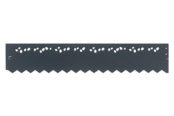 Bordure Galva Colorée Ajourée - Anthracite