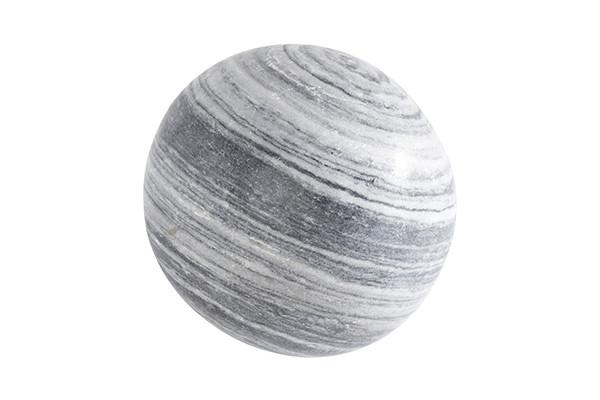 Sphère Marbre Blanc et Noir - détouré