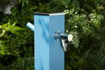 Fontaine a eau jardin Alu Bleu