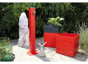 Fontaine jardin Alu Rouge
