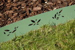 Bordure Galva - Feuille Olivier - zoom vert olive