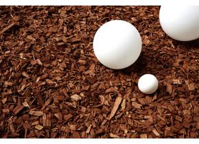 Paillage Plaquette de Résineux 20/40 - Ambiance brun