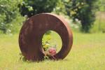 Photophore bulle métal effet rouille