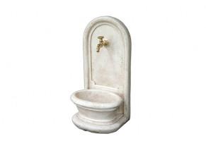 Fontaine ondine pierre vieillie