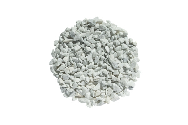 Gravier blanc marbre de carrare 9/12 détouré