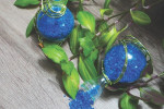 Gravier décoratif bleu océan marbre 2/4 mm ambiance