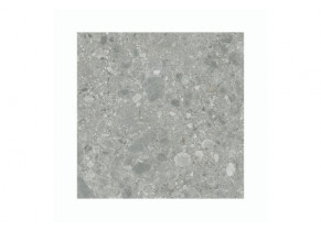 Dalle extérieur grès cérame Terrazzo Grigio 60 x 60 cm détouré