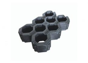 Dalle gazon noire recyclée 60 x 40 cm détouré