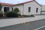 Couvre mur arrondi gris ardoise 80 cm ambiance 2