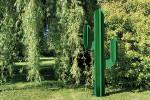 Sculpture exterieure Cactus metal vert deco jardin