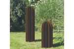 Sculpture exterieure Cactus metal rouille deco jardin