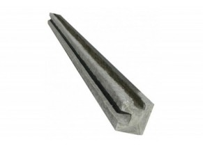 Poteau beton cloture angle 260 cm