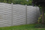 cloture beton imitation bois