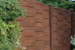 cloture beton imitation bois marron