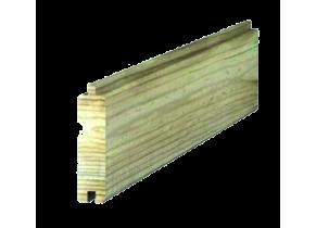 Lame bois clôture mixte beton bois