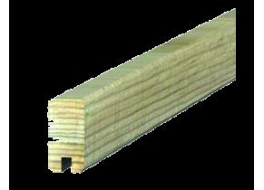 Lame bois clôture beton bois finition