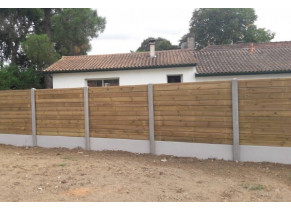 Cloture beton bois